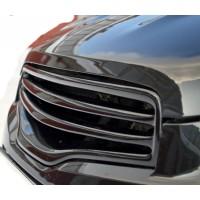 Решетка радиатора Nissan Qashqai  2010-13 тюнинговая 2 полосы глянцевая