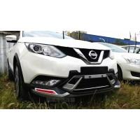 Накладки заднего и переднего бампера Nissan Qashqai J11 2014-16